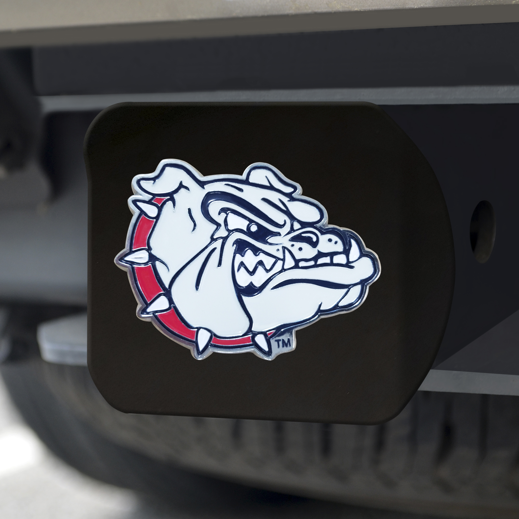 GONZAGA Black Metal Hitch Cover