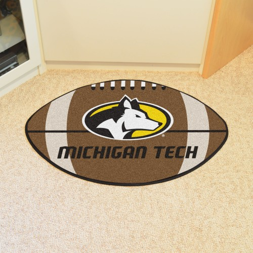 Michigan Tech Football Rug 20.5