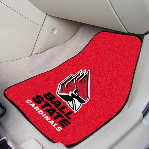 Ball State 2-pc Carpeted Car Mats 17