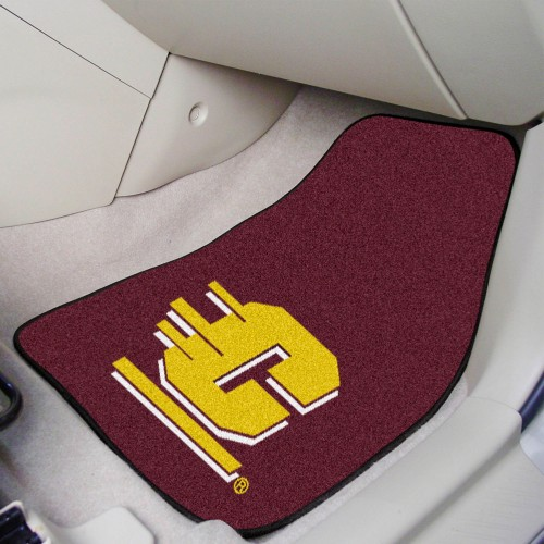 Central Michigan 2-pc Carpeted Car Mats 17