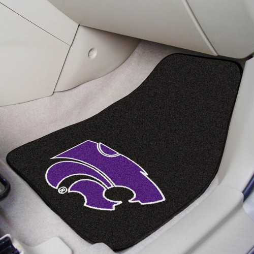 Kansas State 2-pc Carpeted Car Mats 17