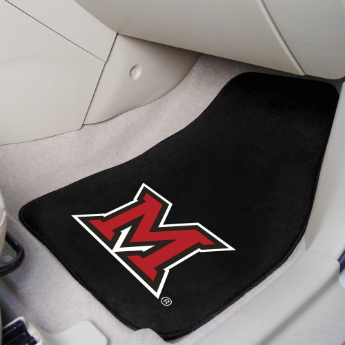 Miami (OH) 2-pc Carpeted Car Mats 17