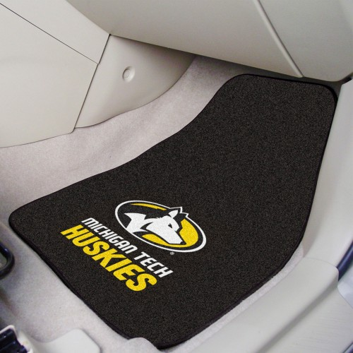 Michigan Tech 2-pc Carpeted Car Mats 17