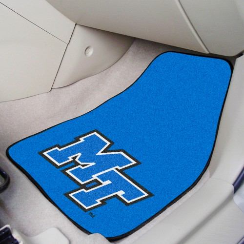 Middle Tennessee State 2-pc Carpeted Car Mats 17