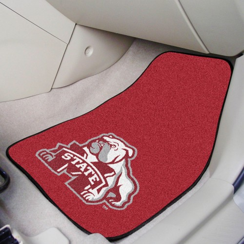 Mississippi State 2-pc Carpeted Car Mats 17