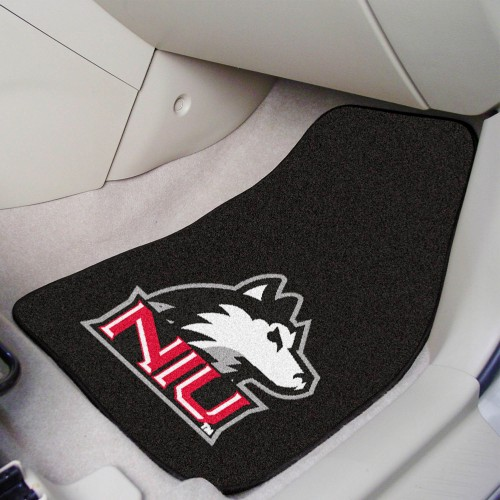 Northern Illinois 2-pc Carpeted Car Mats 17