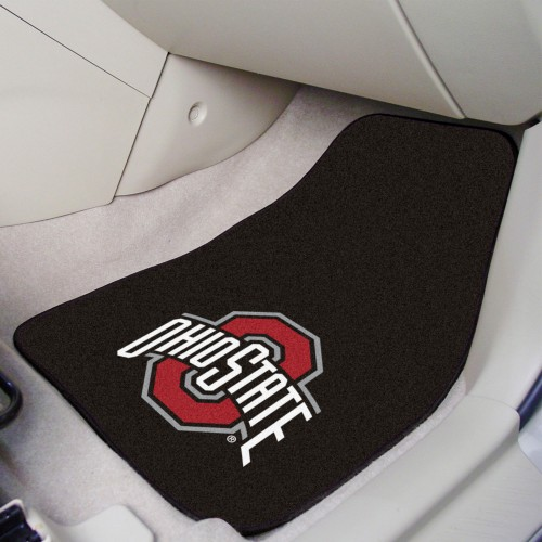 Ohio State 2-pc Carpeted Car Mats 17