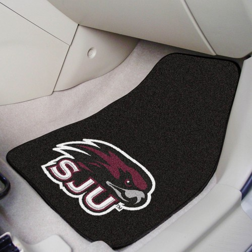 St. Joseph's 2-pc Carpeted Car Mats 17