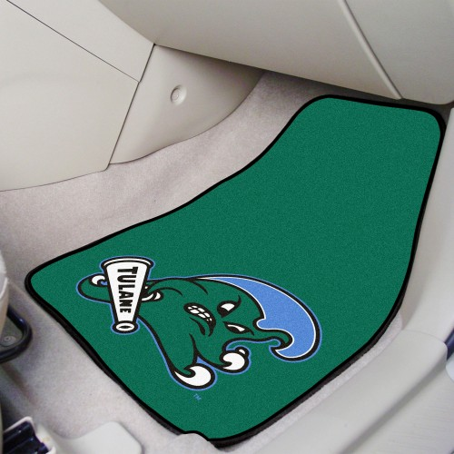 Tulane 2-pc Carpeted Car Mats 17