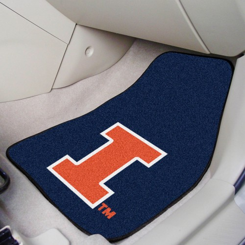 Illinois 2-pc Carpeted Car Mats 17