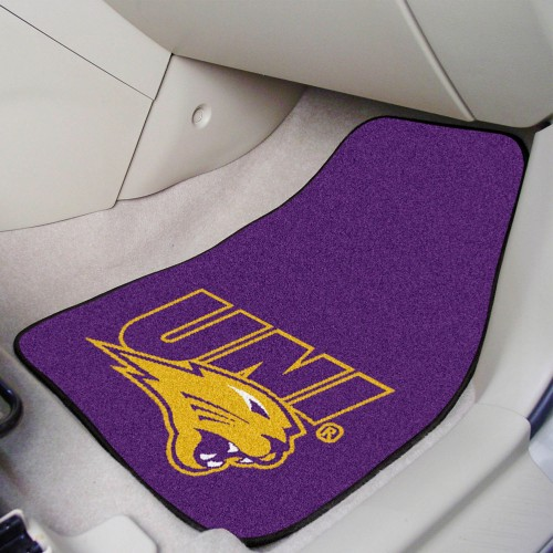 Northern Iowa 2-pc Carpeted Car Mats 17