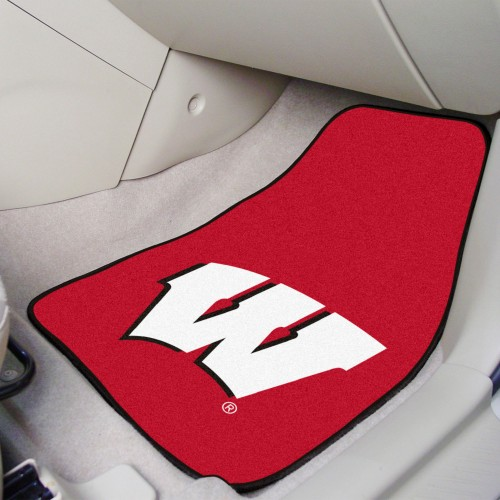 Wisconsin 2-pc Carpeted Car Mats 17