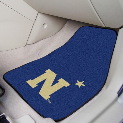 U.S. Naval Academy 2-pc Carpeted Car Mats 17