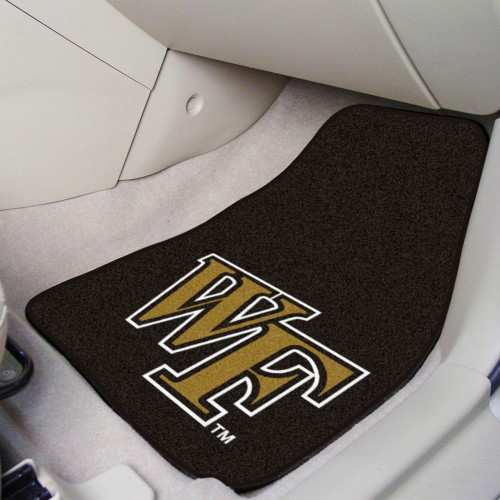 Wake Forest 2-pc Carpeted Car Mats 17