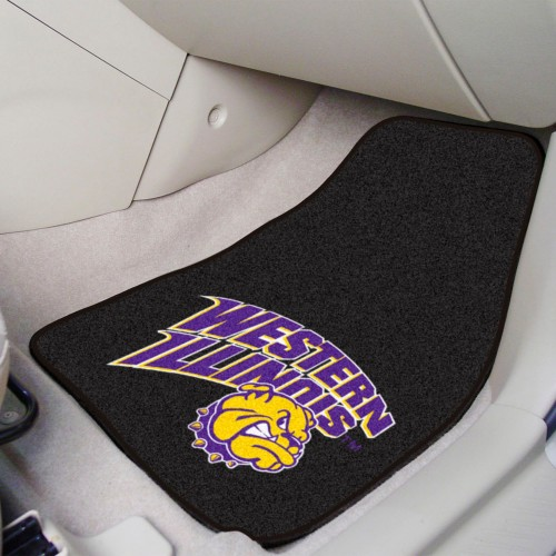 Western Illinois 2-pc Carpeted Car Mats 17