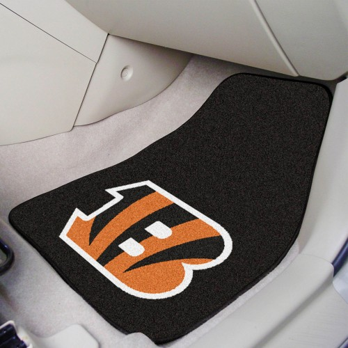 NFL - Cincinnati Bengals 2-pc Carpeted Car Mats 17