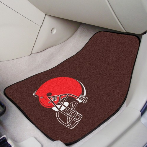 NFL - Cleveland Browns 2-pc Carpeted Car Mats 17
