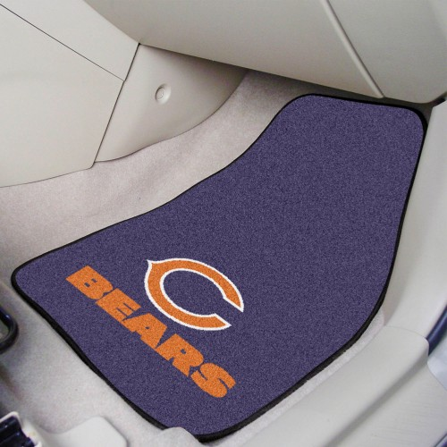NFL - Chicago Bears 2-pc Carpeted Car Mats 17