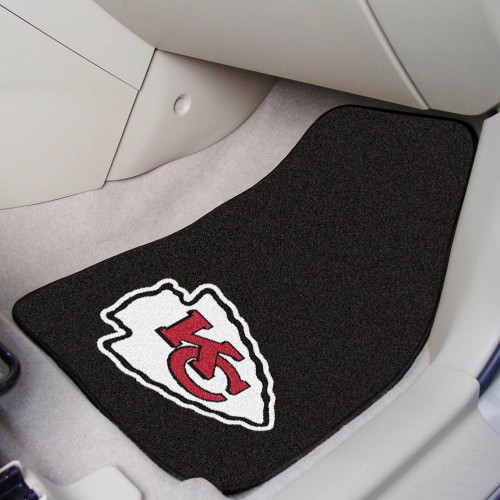NFL - Kansas City Chiefs 2-pc Carpeted Car Mats 17