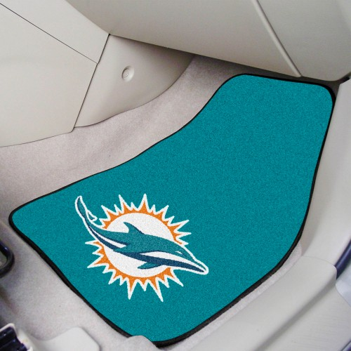 NFL - Miami Dolphins 2-pc Carpeted Car Mats 17