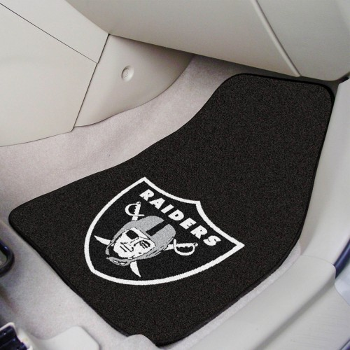 NFL - Oakland Raiders 2-pc Carpeted Car Mats 17