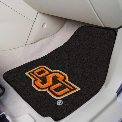 Oklahoma State 2-pc Carpeted Car Mats 17