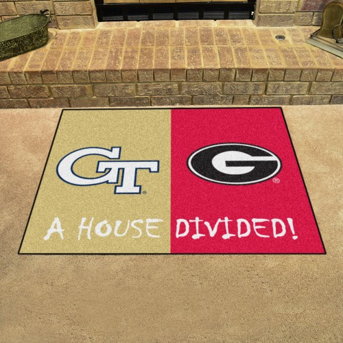 Georgia Tech - Georgia House Divided Rug 33.75