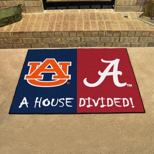 Alabama - Auburn House Divided Rug 33.75