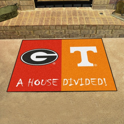 Georgia - Tennessee House Divided Rug 33.75