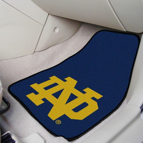 Notre Dame 2-pc Carpeted Car Mats 17