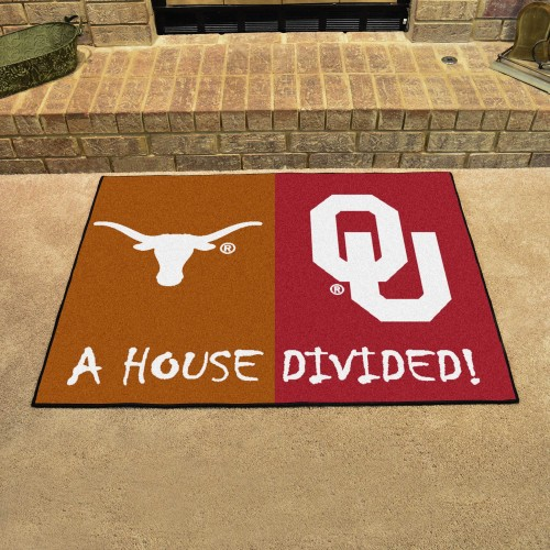 Texas - Oklahoma House Divided Rug 33.75