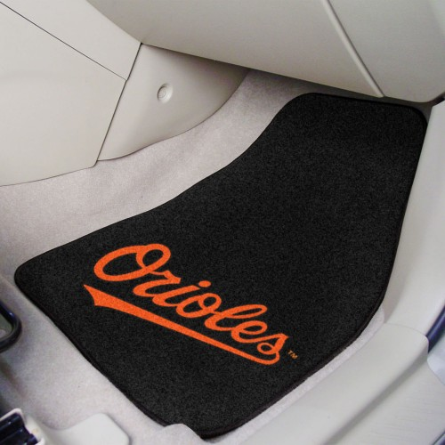 MLB - Baltimore Orioles 2-pc Carpeted Car Mats 17