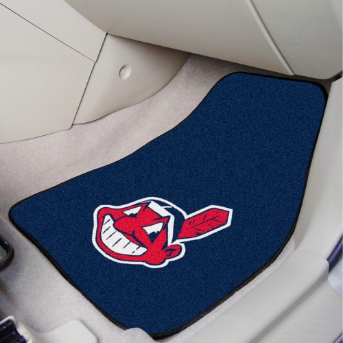 MLB - Cleveland Indians 2-pc Carpeted Car Mats 17