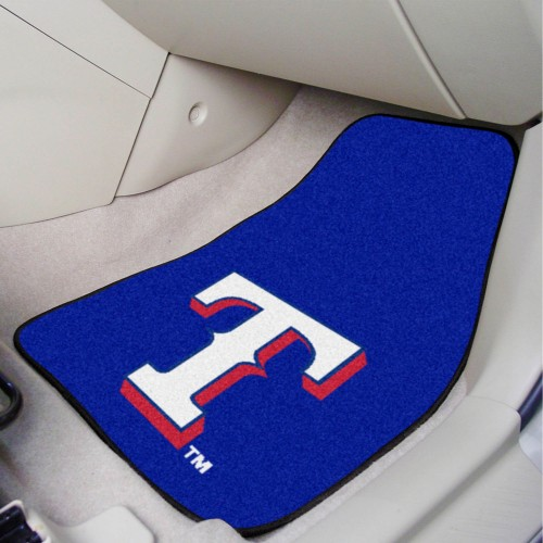 MLB - Texas Rangers 2-pc Carpeted Car Mats 17