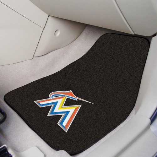 MLB - Miami Marlins 2-pc Carpeted Car Mats 17