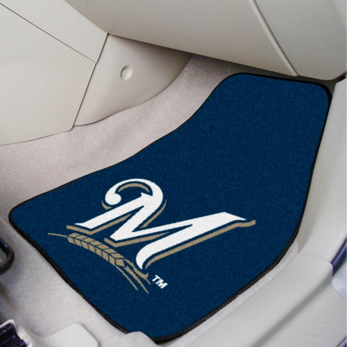 MLB - Milwaukee Brewers 2-pc Carpeted Car Mats 17
