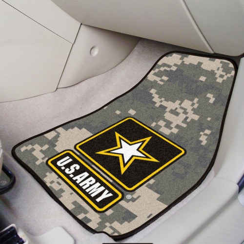 Army 2-pc Carpeted Car Mats 17