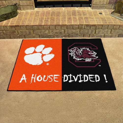 Clemson - South Carolina House Divided Rug 33.75
