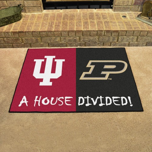 Indiana - Purdue House Divided Rug 33.75