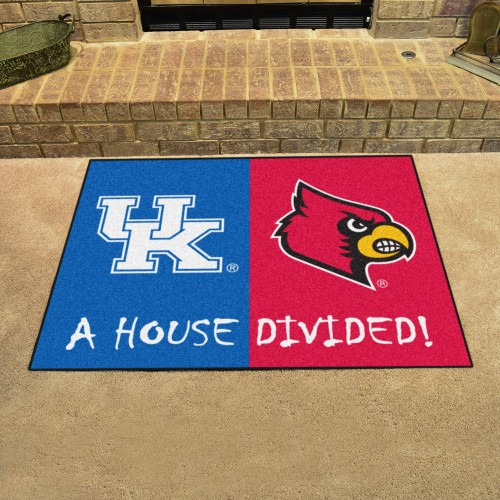 Kentucky - Louisville House Divided Rug 33.75