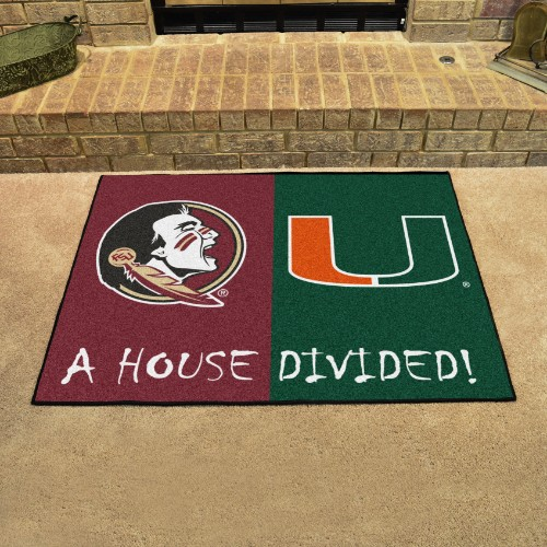 Florida State - Miami House Divided Rug 33.75