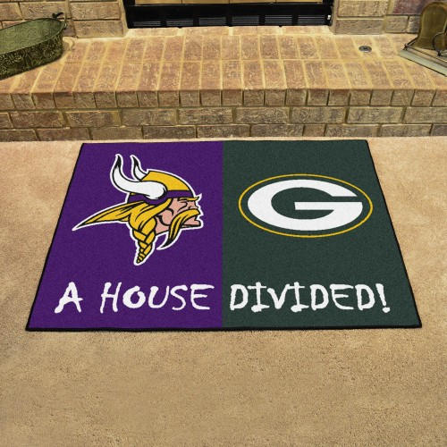 NFL - Vikings - Packers House Divided Rug 33.75