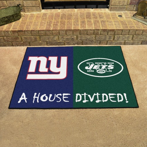 NFL - Giants - Jets House Divided Rug 33.75