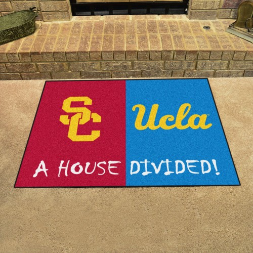 USC - UCLA House Divided Rug 33.75