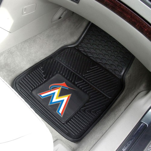 MLB - Miami Marlins 2-pc Vinyl Car Mats 17