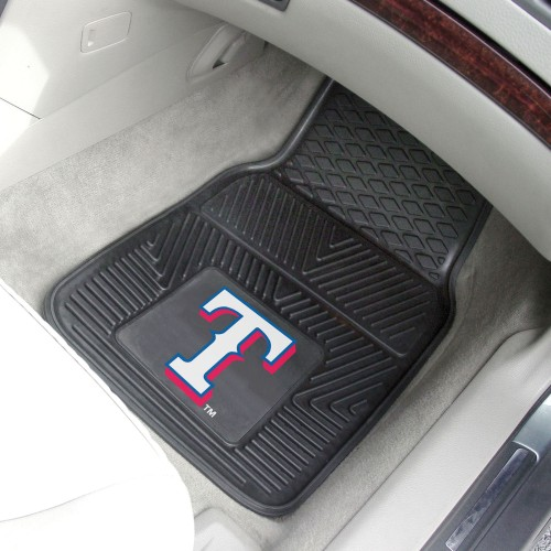MLB - Texas Rangers 2-pc Vinyl Car Mats 17