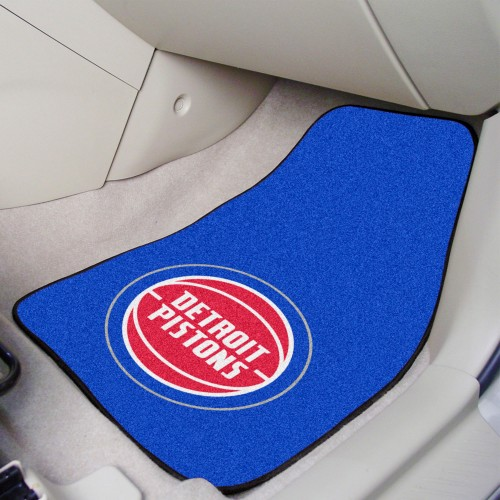 NBA - Detroit Pistons 2-pc Carpeted Car Mats 17