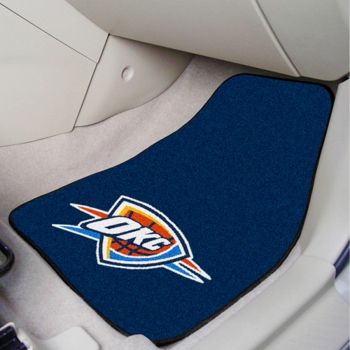NBA - Oklahoma City Thunder 2-pc Carpeted Car Mats 17