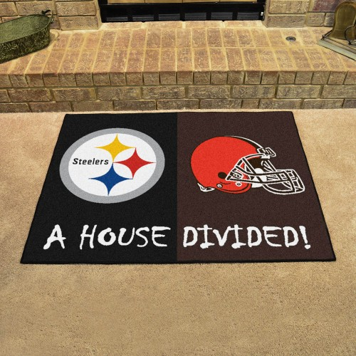 NFL - Steelers - Browns House Divided Rug 33.75