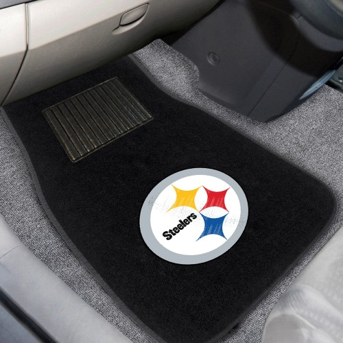 NFL - Pittsburgh Steelers 2-pc Embroidered Car Mats 18